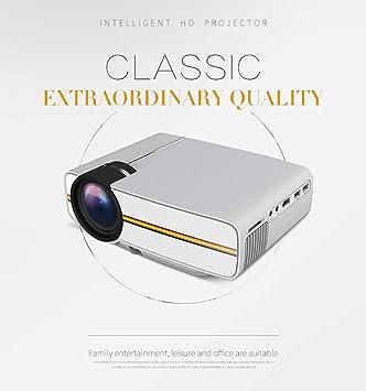 LHJCN Proyector,1200 Lúmenes Portátil Proyector, Soporte Full HD ...