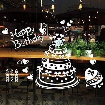 Astounding Mural Zozoso Happy Birthday Cake Wall Sticker Cake Shop Baking Funny Birthday Cards Online Aeocydamsfinfo