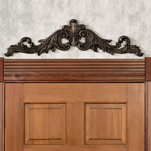 - Craft Tex /Ladybug/Phase Iv Sidoria Scroll Door Topper Antique Bronze