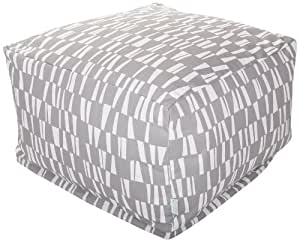 Majestic Home Goods Sticks Ottoman, Large, Gray