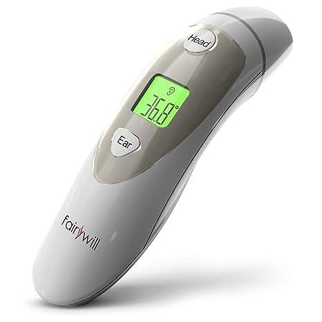 Termómetro de oído, Termómetro de frente para bebés, niños y adultos, Termómetro digital de precisión profesional con alarma de fiebre, Nueva versión ...