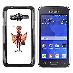 Paccase / SLIM PC / Aliminium Casa Carcasa Funda Case Cover - Sikhism Indian Man Moustache Art Painting - Samsung Galaxy Ace 4 G313 SM-G313F