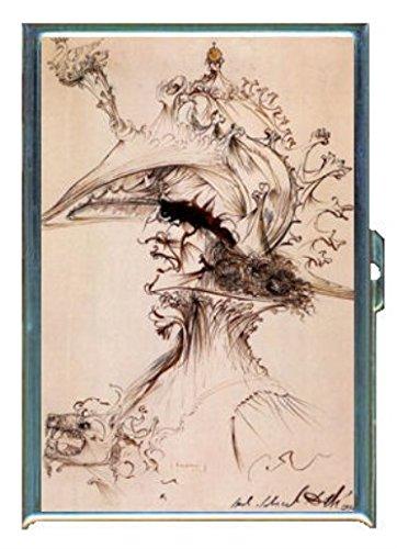 Salvador Dali Portrait Condottiere Stainless Steel ID or Cigarettes Case (King Size or - Cigarette Salvador Case Dali
