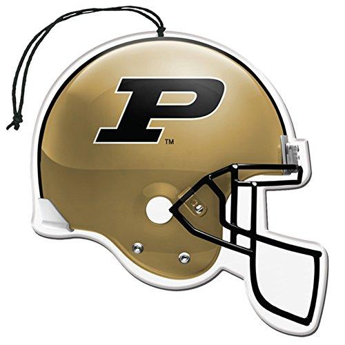 [해외]라이센스 NCAA 퍼듀 Boilermakers 뉴카 향기 헬멧 모양 공기 청정기 3 팩 세트 (선물 상자 포함)/Licensed NCAA Purdue Boilermakers Nu-Car Scent Helmet Shap
