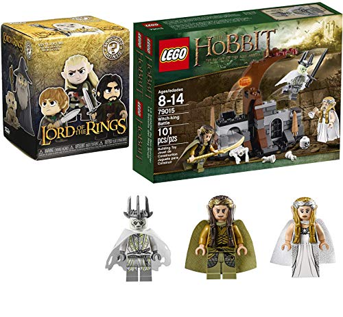 Funko LOTR Vinyl Minis Figure Lord of The Rings Blind Box Fantasy Bundled with The Hobbit The Crown for The Witch-King Buildable Figure Battle of The Five Armies Collectors Box 2 Items Pack