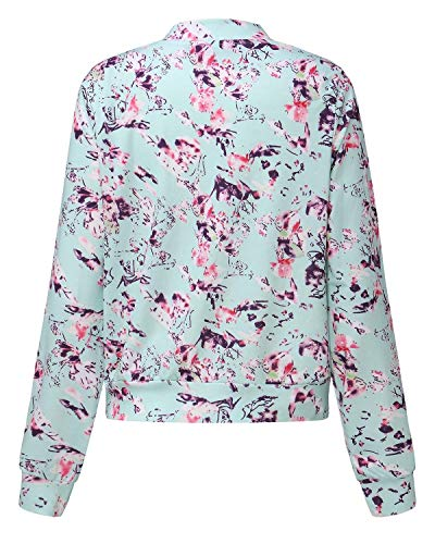 Libero Tempo Donne Eleganti Primaverile Jacket Sportivo Battercake Giubbino Donna Hellgrün Lunga Leggero Zip Autunno Stampate Moda Casuale Outdoor Outwear Manica 1pZw6fqZ