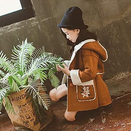 MV Clothing Foreign Woolen Girls Autumn Winter Childrens Woolen Coat Korean Hooded
