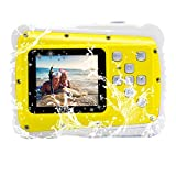 Vmotal Kids Waterproof Camera with 2.0 Inch LCD Display 8MP HD Kids Underwater Camera Camcorder for Boys Girls Gift (Yellow)
