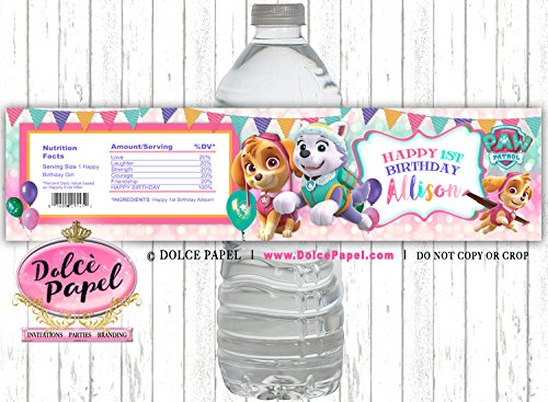 5x PERSONALISED FROZEN WATER BOTTLE LABELS BIRTHDAY CHILDREN PARTY FAVOURS GIFTS