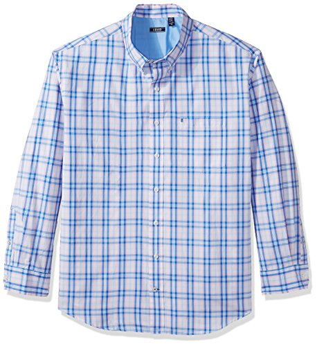 IZOD Men's Big and Tall Saltwater Breeze Long Sleeve Shirt, fairy tale, Large Tall -