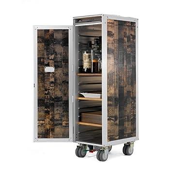 SkyPak LA BARRIQUE Jack Daniel - Carro con Ruedas, Madera Metal, marrón, 1 Barrique Shelf: Amazon.es: Hogar