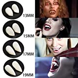 LuReen 4 Pairs Vampire Teeth Fangs Dentures Cosplay Props Halloween Costume Props Party
