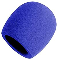 On Stage Foam Ball-Type Mic Windscreen, Blue