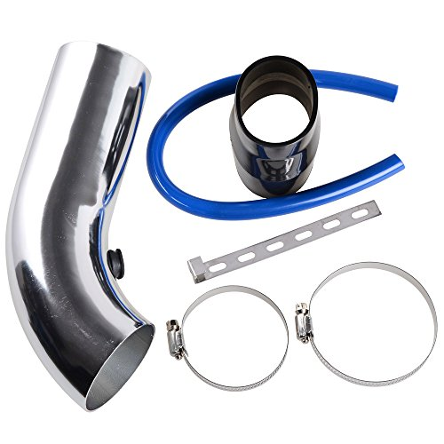 """Price comparison product image 3"""" 64mm-75mm Universal Car Turbo Cold Air Intake Systems Inlet Induction Hose Pipe Filter Tube Kit"""