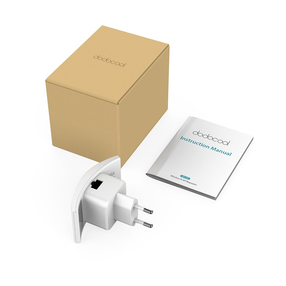 300 Mbit//s, 2,4 GHz, WPS, 2 Interne Antennen dodocool WLAN Repeater N300 WLAN Verstaerker WiFi Signalverst/ärker Wireless Access Point WLAN Booster Mini Router