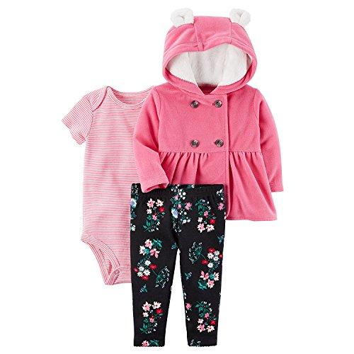 Carter's Baby Girls' 3 Piece Floral Print Little Jacket Set 3 - Warehouse Designer Clothing