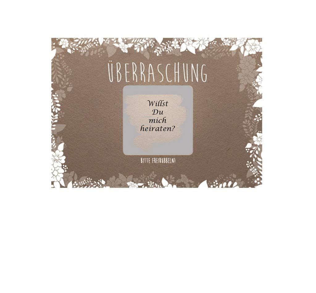 10 /Überraschungskarten Rubbelkarten
