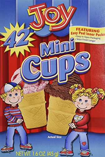 (Joy Mini Cups; Mini Ice Cream Cones for Kids, 42 Count (2 Boxes (84 cones)) 1.6 OZ (45G))