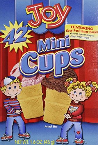 - Joy Mini Cups; Mini Ice Cream Cones for Kids, 42 Count (2 Boxes (84 cones)) 1.6 OZ (45G)