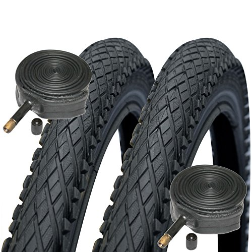 SCHWALBE Impac Crosspac 700 x 38c Hybrid Bike Tyres with Schrader Tubes (Pair)