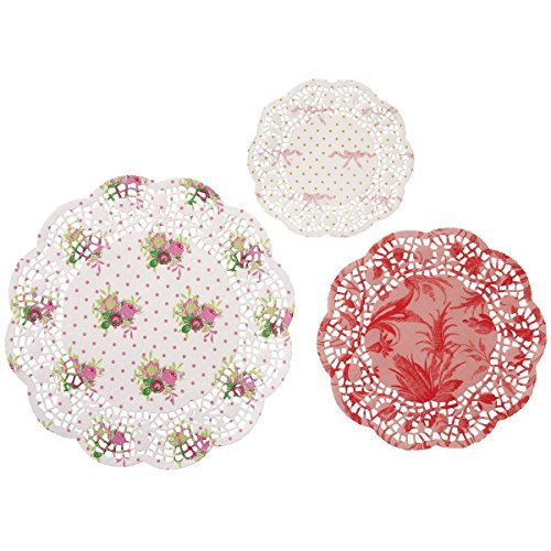 Talking Tables Frills & Frosting Décor Disposable Doilies for a Tea Party, Birthday or Baking, Multicolor (24 Pack)