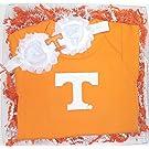 "Tennessee Volunteers Baby Onesie and Shabby Bow Headband Gift Set (Newborn / 13"")"