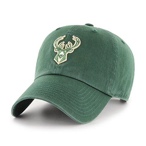 NBA Milwaukee Bucks OTS Challenger Adjustable Hat, Dark Green, One Size