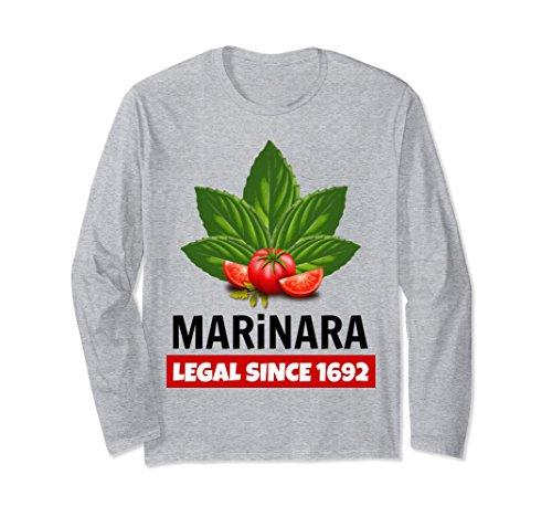 Marinara Legal Since 1692 Basil Leaves and Tomatoes Unisex Long-Sleeve T-Shirt