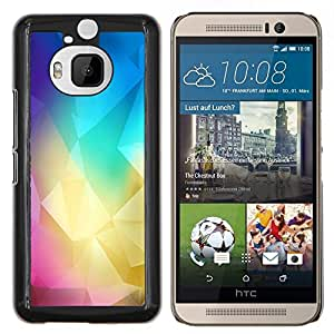 Stuss Case / Funda Carcasa protectora - Polígono Colores - HTC One M9Plus M9+ M9 Plus