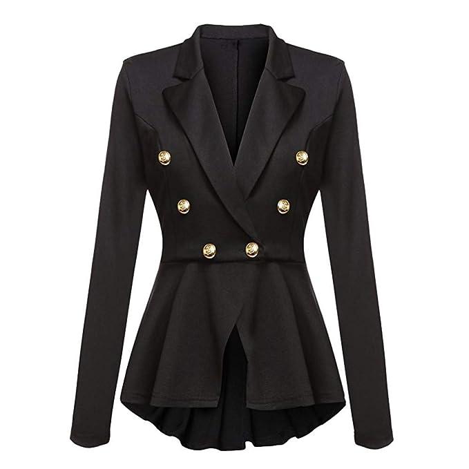 Amazoncom Gyoume Ladies Office Coats Women Work Suits Button