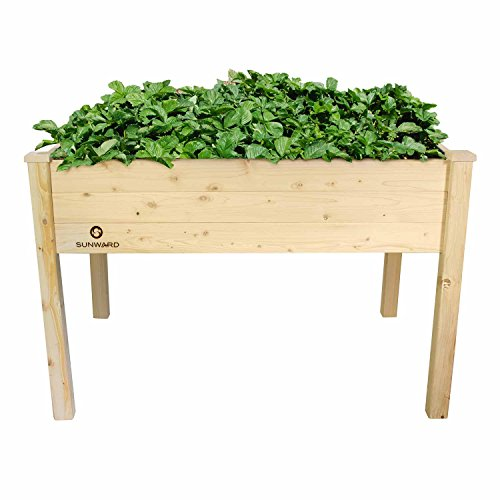 Sunward Patio Raised Garden Bed Elevated Planter Box (48 x 34 x 32)