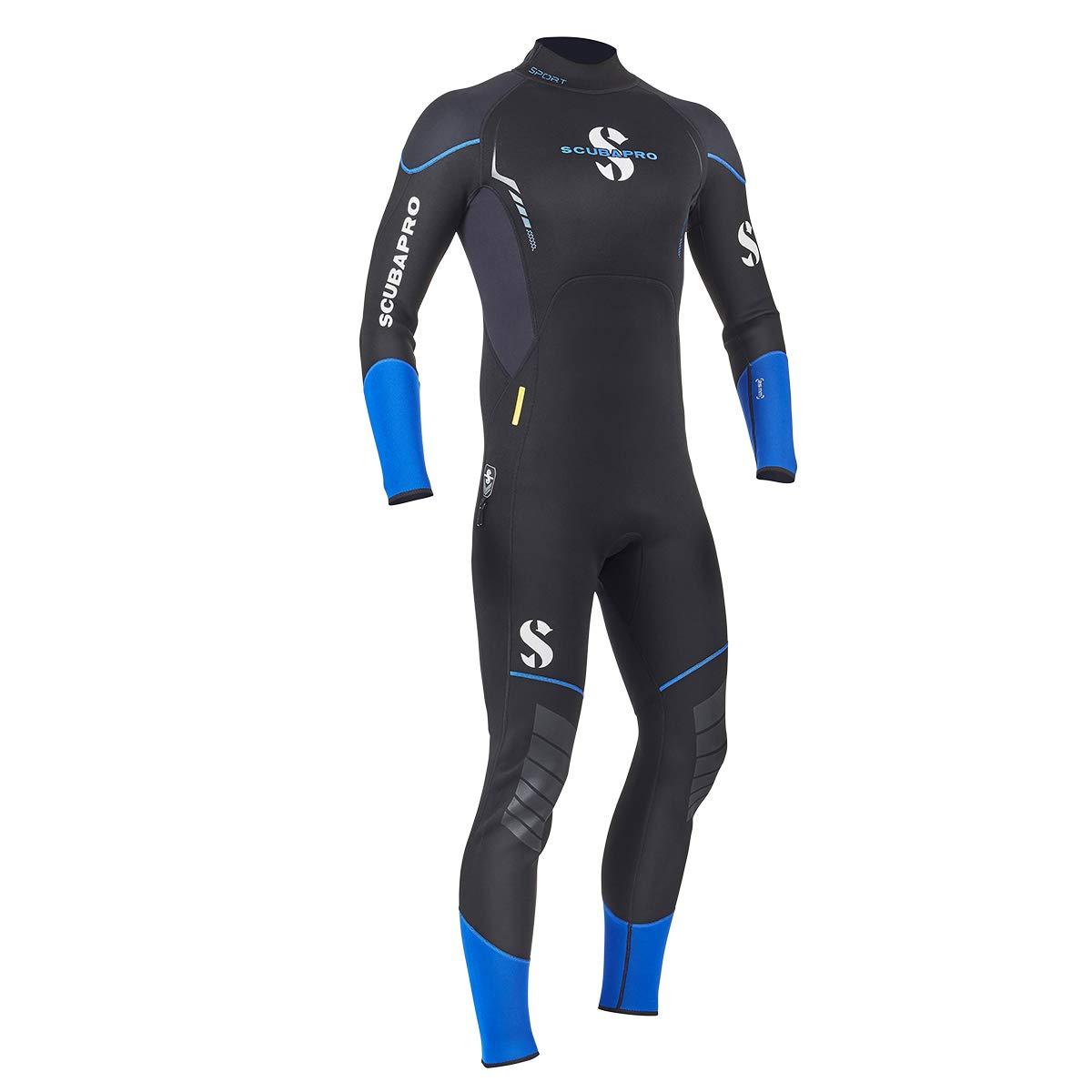 Scubapro Sport Steamer 2.5mm Men's Wetsuit (Large, Black/Blue) by Scubapro