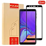 [2-Pack] PULEN Samsung Galaxy A7 2018 Screen Protector,0.3MM Slim Full Screen Coverage Anti-Scratch Bubble Free Ultra Clear 9H Hardness Tempered Glass for Samsung Galaxy A7 2018 (Black)