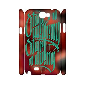LSQDIY(R) Stop Wishing Start Doing Samsung Galaxy Note 2 N7100 3D Case Cover, Customized Samsung Galaxy Note 2 N7100 3D Cover Case Stop Wishing Start Doing