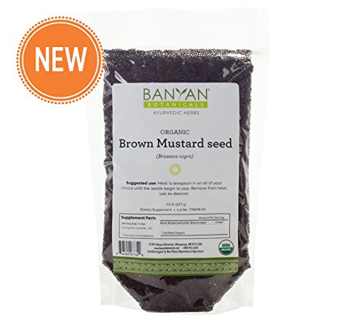 Dried Mustard (Banyan Botanicals Brown Mustard Seed - USDA Organic - Heating Spice that Promotes Healthy Digestion - Brassica nigra (1/2 lb))