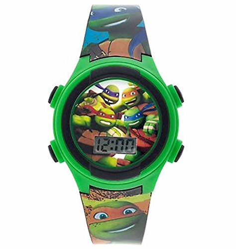 [TMNT Green Teenage Mutant Ninja Turtles LCD Watch] (Nickelodeon Teenage Mutant Ninja Turtles Treat Bags)