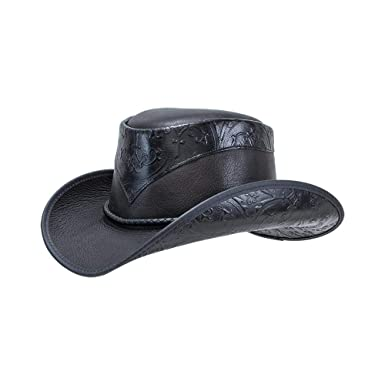 ac3a9946bad American Hat Makers Falcon by Double G Hats Western Cowboy Leather Hat