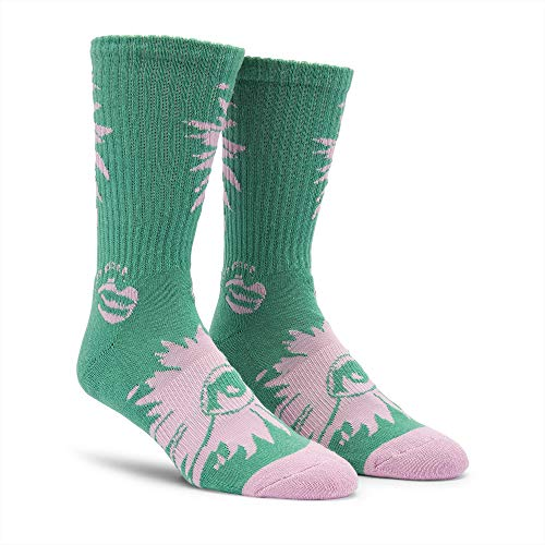 Volcom Men's Blooming Eye Tall Crew Sock, wintergreen, One Size Fits All