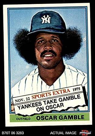 1976 Topps Traded 74 T Oscar Gamble New York Yankees Baseball Card Deans Cards 6 Exmt Yankees