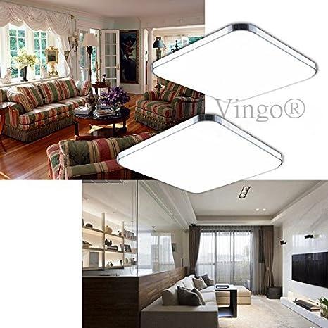 Vingo® 2 x 12 W - Lámpara LED de techo bajo consumo Salón ...