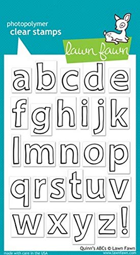 Lawn Fawn LF353 Quinn's Abcs Clear Stamps (Lawn Fawn Stamps Acrylic)