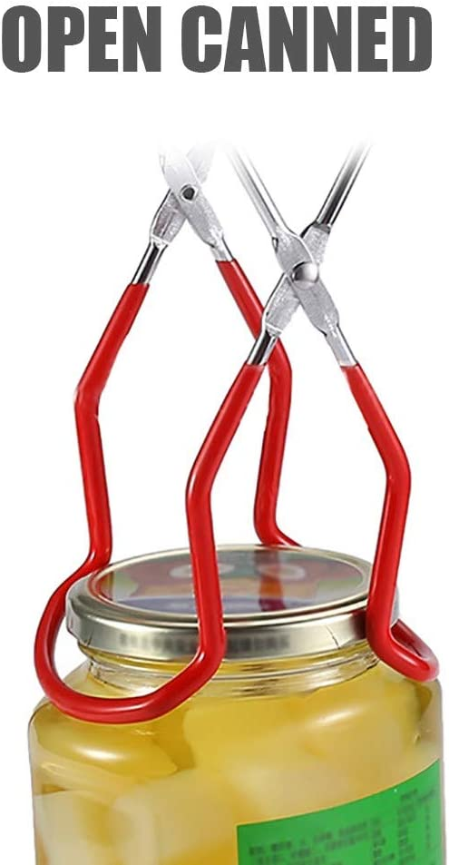 Green 1PC Stainless Steel Jar Lifter Canning Jar Lifter Tongs with Grip Handle for Safe and Secure Grip