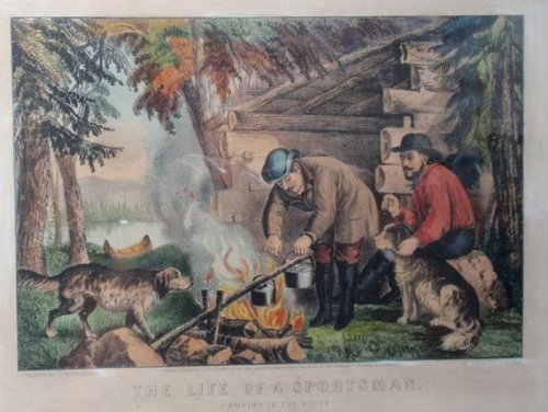 Currier & Ives Fine Art (The Life of a Sportsman, Camping in the Woods)