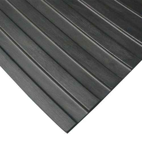 Ribbed Surface Mat 3 Foot (Rubber-Cal 03_167_W_WR_04 Wide Rib Corrugated Rubber Floor Mat, 1/8