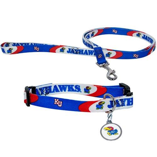 Hunter University of Kansas Pet Combo Set (Collar, Lead, ID Tag), Medium