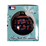 MLB Detroit Tigers REPEAT Print Glass Ball Ornament