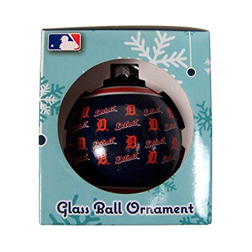 (Detroit Tigers Repeat Print Glass Ball Ornament)