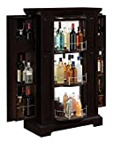 Metro Liquor Cabinet with Expanding Side Storage, Espresso