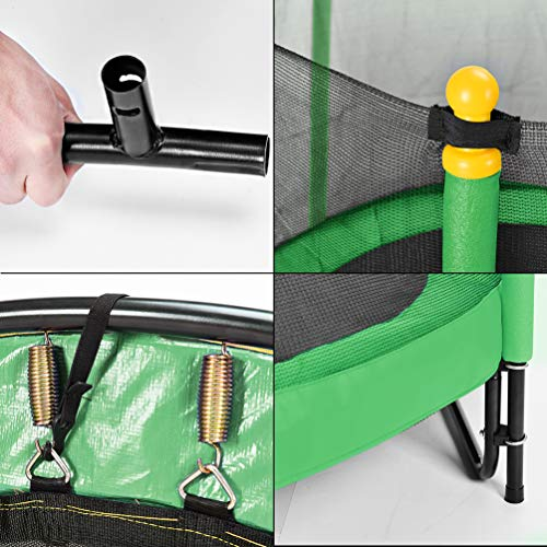 Fashionsport OUTFITTERS Trampoline with Safety Enclosure -Indoor or Outdoor Trampoline for Kids-Yellow/Green-5 feet by Fashionsport OUTFITTERS (Image #5)