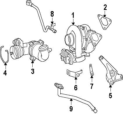 Turbocharger Gasket Mercedes-Benz 646 142 00 80